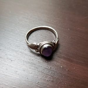 Genuine Silver and Amethyst Ring